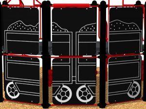 Train Coal Car Panel, Rear Top