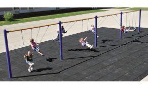 Kids Choice, Single Post Swings with 8 Belt Seats