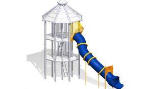 Phyzics Mega Tower Tube Slide Straight
