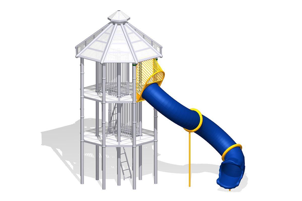 """Phyzics Mega Tower """"S"""" Tube Slide Left"""