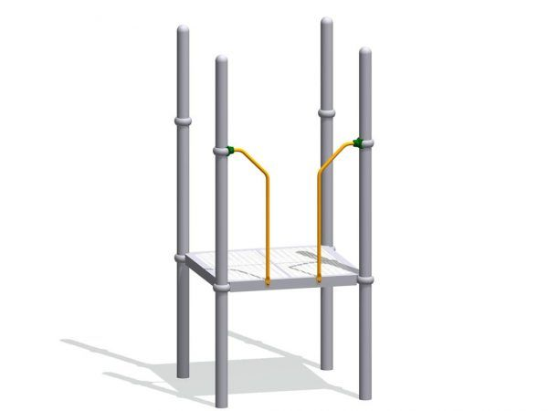 Deck Enclosure for Overhead Climbers