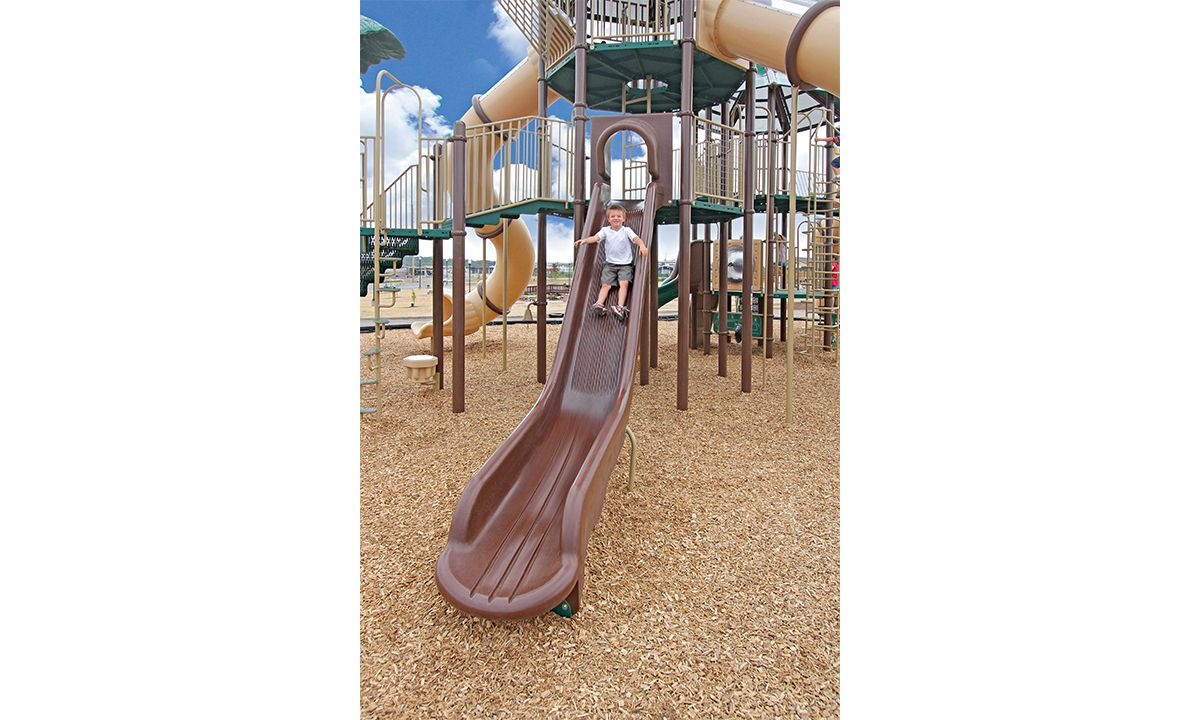 Large brown commercial scale n' slide