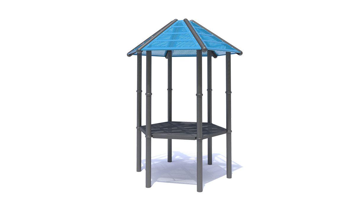 Perf Steel Hexagon Roof