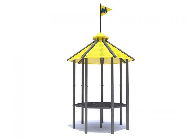 Cupola Top for Heptagon Roof with Flag Pole