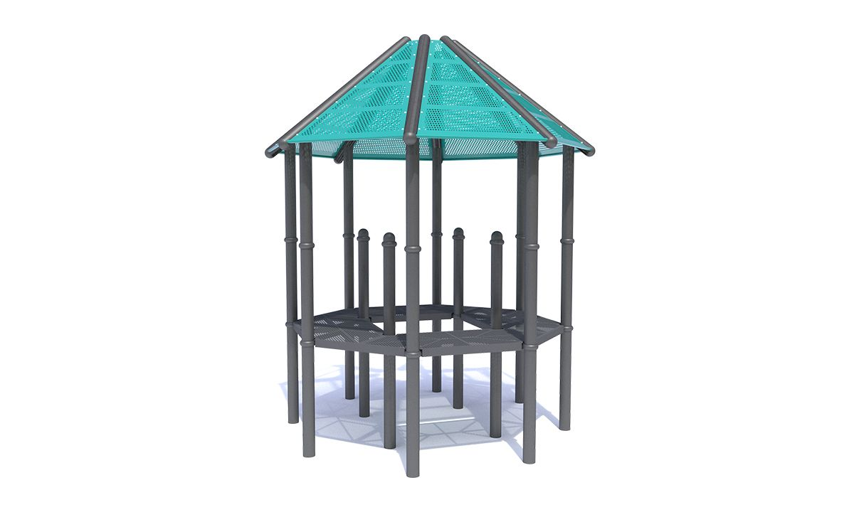 Octagon Roof with Mesh Steel Panels
