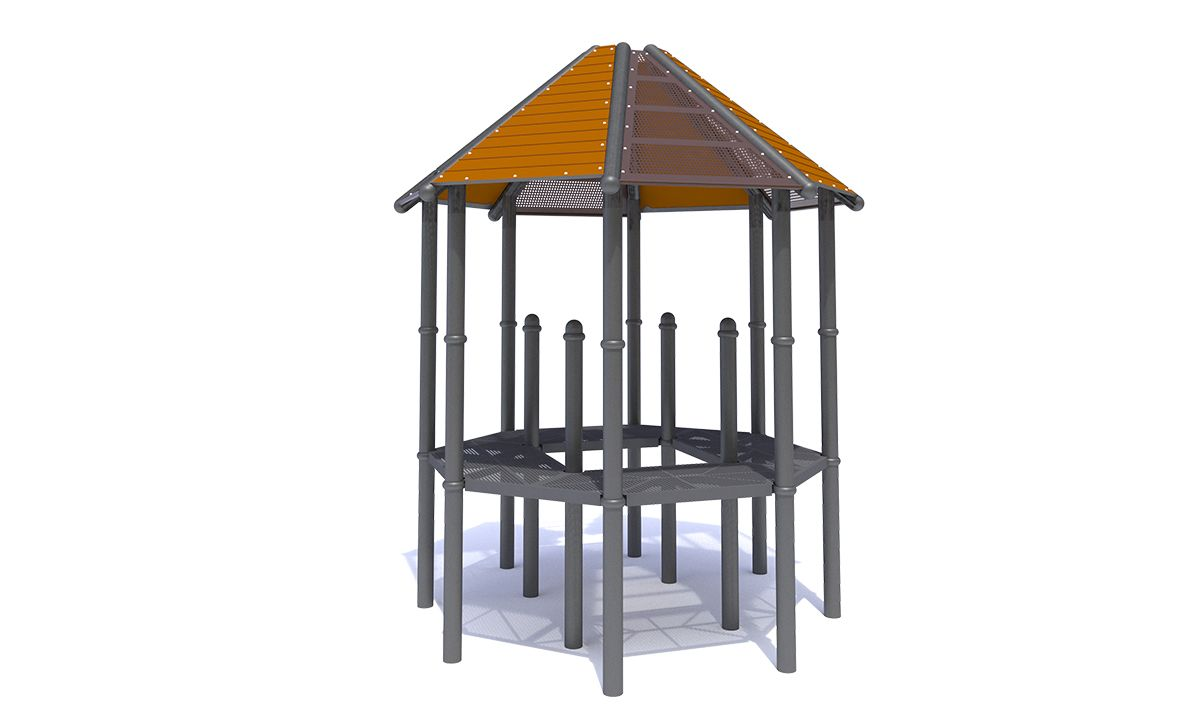 Steel / Recycled Octagon Roof
