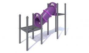 Inclined Crawl Tubes with a 3′ (0.9m) Rise