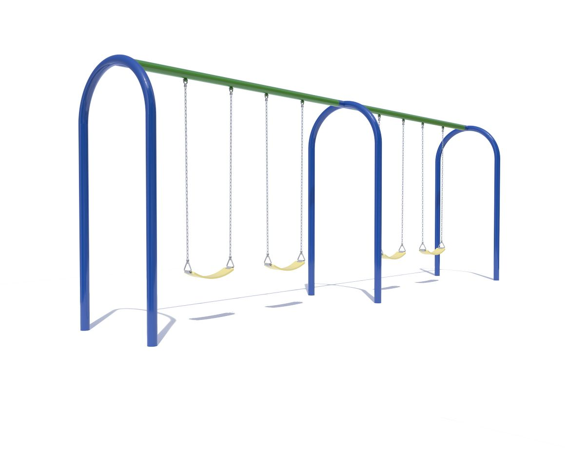 Arch Swings with 2 Bays, 4 Belt Seats