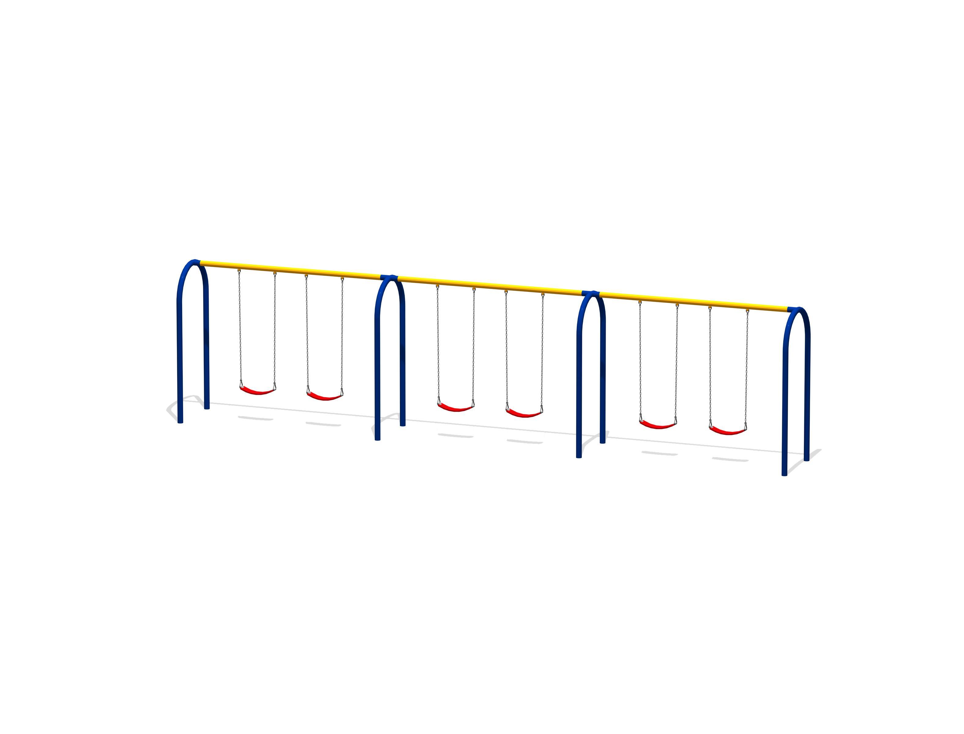 Arch Swings with 6 Belt Seats