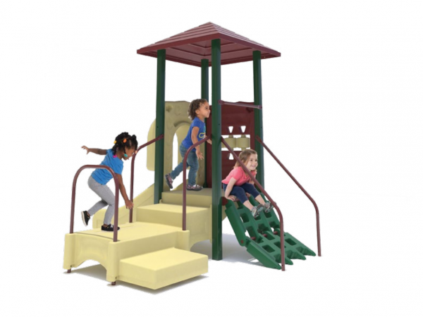 Small outdoor playground for toddlers