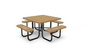 46″ Square Table – Perforated – Portable