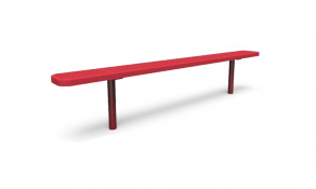 8′ Backless Bench – Perforated – In-Ground